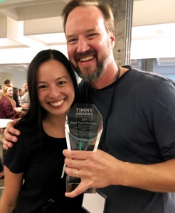 Past TIMMY Award winners, Brian Marchiel and Joanne Pons