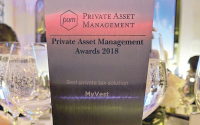 MyVest wins PAM Award for Best Private Tax Solution